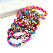 10 Pcs / Lot Women Ultra Elastic Headband Hairband Ladies Braided Scrunchie Hair Rope Rubber Band Girls Bow Hair Accessories(China)