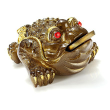 Vintage Luck Gift Feng Shui Gold Bronze Small Three Legged Money for Frog Fortune Toad Chinese Coin Metal Craft Gifts Home Decor