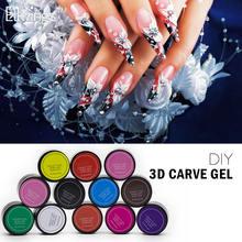 ellwings 12 farbe design 3d geschnitzte muster kleber nagel gel diy nail art dekorative gel nagel design malerei tipps fr manik - Muster Fur Gelnagel