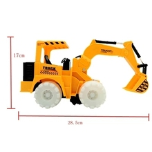 Electric universal fork music lights simulation mining bulldozer digging truck of remote control toys for children