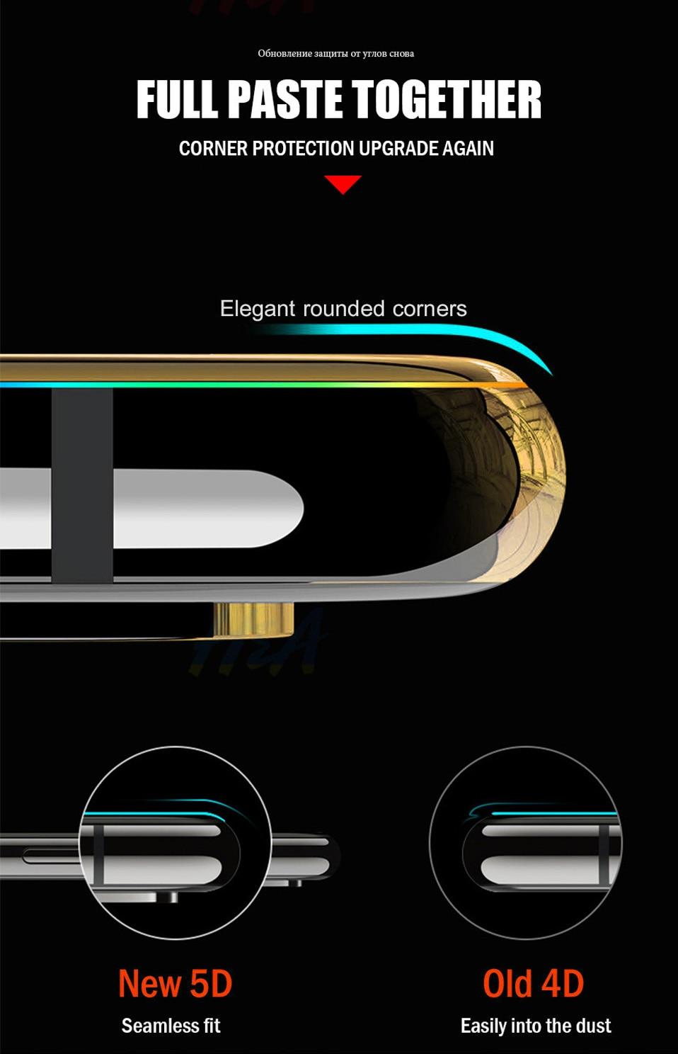 5D Glasses for iPhone 6 6s plus Glass Film Full Cover iphone6 Screen Protector for iPhone 6 6s 7 8 plus x Tempered Glass 3D 4D (4)