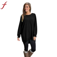 Fashion Loose Shirt Women Long Sleeve Round Collar Tunic Top Ladies Pullover 5 Candy Colors Long T-Shirt S M L XL(China)