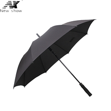NX long umbrella man and women's Business Semi-automatic Large strongs windproof Golf umbrella folding sun outdoor