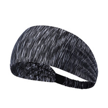 Elastic Sport Headband Fitness Yoga Sweatband Outdoor Gym Running Tennis Basketball Wide Hair Bands Athletic Men Women(China)