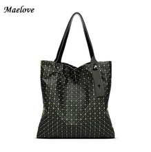 Maelove women-bag Geometric Shoulder Bag brand Style famous logo bag Casual totes best gift for girl(China)