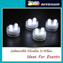 Hot Sale 100pcs/pack LED WHITE DOUBLE SUBMERSIBLE Floralyte II Lights Wedding Christmas Thanksgiving New Year Halloween(China)