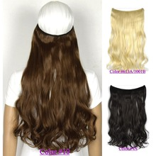 22 inch (55cm) 100g Wavy mircale wire halo hair extension heat resistant B5 synthetic hair fiber