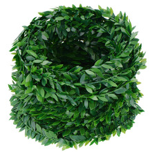 Hot SALE 24.6 Yards 3Pcs Artificial Ivy Garland Foliage Green Leaves Fake Vine for Wedding Party Ceremony DIY Headbands(China)