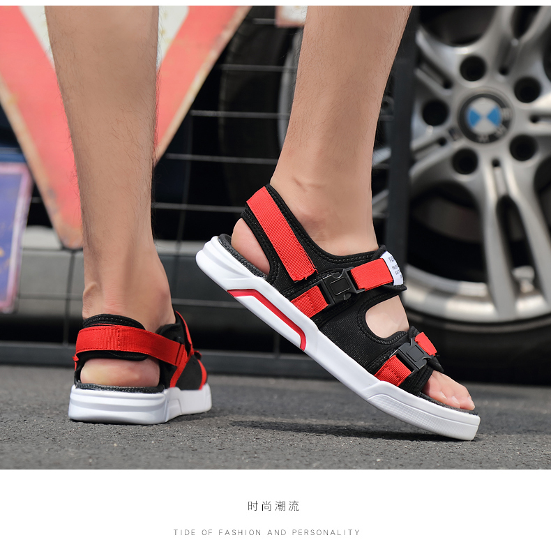 YRRFUOT Summer Big Size Fashion Men's Sandals Outdoor Hot Sale Trend Man Beach Shoes High Quality Non-slip Adult Flats Shoes 46 27 Online shopping Bangladesh