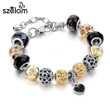 SZELAM 2017 Fashion Charm Heart Bracelets & Bangles for Women Pulseiras SBR160164