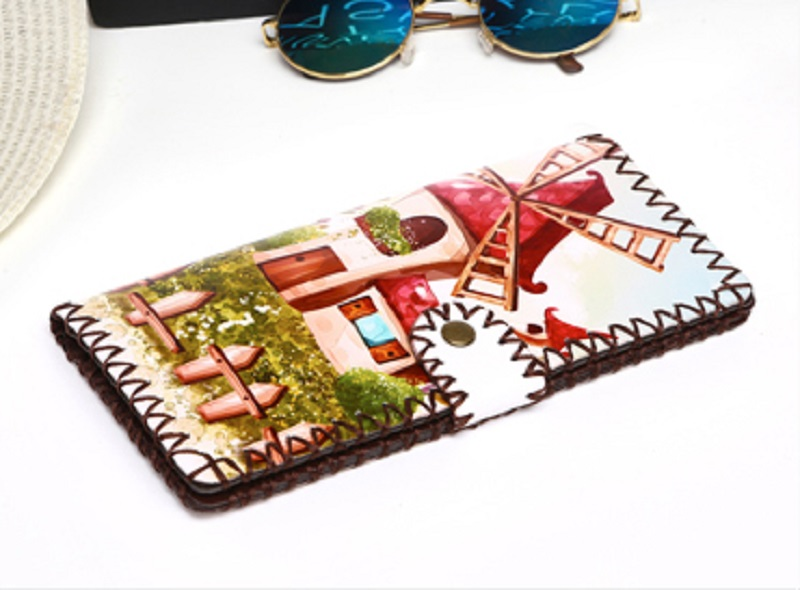 BRITTO Handmade Colorful Graffitti Wallet For Banknotes &amp; Photo Girl Long PU Money Clips Lady Hasp Clutch Purse Female Money Bag<br><br>Aliexpress