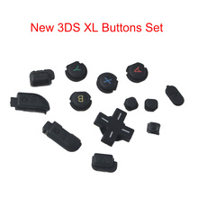D Pad ABXY Home Power Buttons Set For Nintendo New 3DS XL LL Black R & L ZR ZL Button Parts
