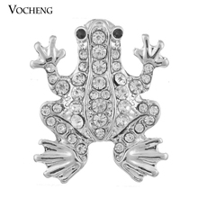 Vocheng Ginger Snap Jewelry Accessories 18mm Fashion Frog Inlaid Crystal Vn-347 Free Shipping