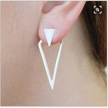 new fashion gold Silver Color triangle Jewellery stud earrings for women gifts jewelry Gold Color Boucle D'oreille Femme