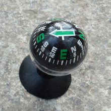 Mini Black Flexible Navigation Plastic shell Ball Compass Dashboard Boat Truck Suction Pocket Compass(China)