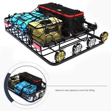 COMVEE Universal Car Roof Rack Bar Cargo Basket 136x100cm for all SUV Models Cargo Luggage Carrier Roof Racks
