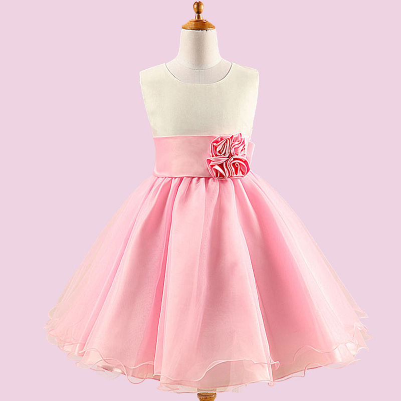 Fashion 2017 Baby Girls Clothing Big Bow Wedding Party Bridesmaid Dresses Elegant Tutu Formal Dress Summer Girls Children Dress<br><br>Aliexpress