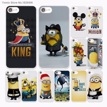 king bob Minions My Unicorn Agnes Design hard White Skin Case Cover for Apple iPhone 7 6 6s Plus SE 5c 5 5s(China)