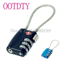 TSA Resettable 3 Digit Combination Travel Luggage Suitcase Lock Padlock -S018 High Quality