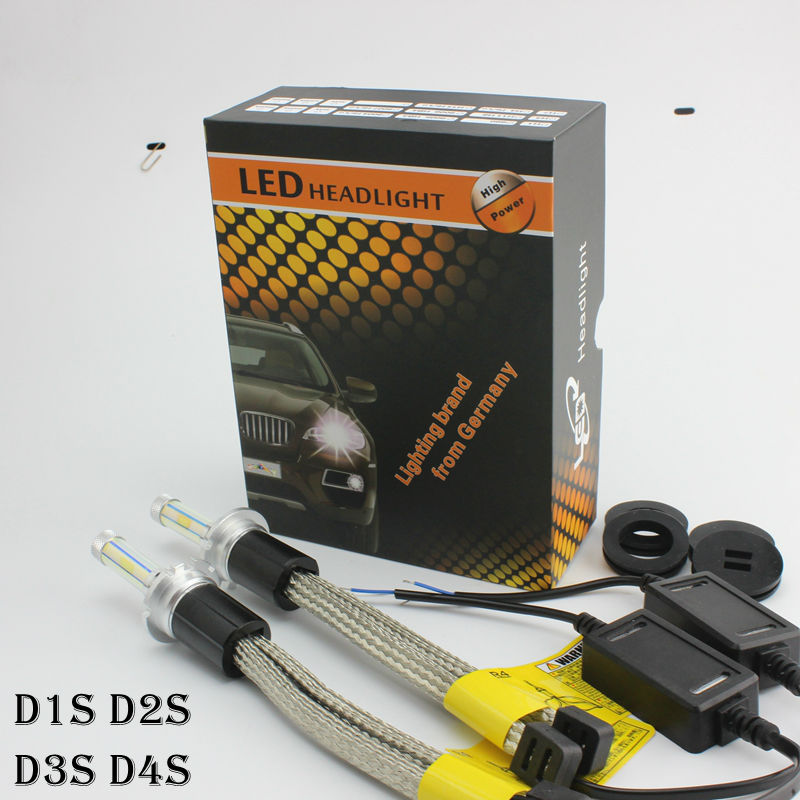 Ossen R4 D1S D3S D4S D2S  LED Headlight Bulbs 30w 3600lm Headlamp Yellow 3000k 4300k 6000k 8000k D1R D2R D3R D4R Fog Lamps<br><br>Aliexpress