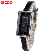 XICOO Women Watch Bracelet Slim Real Leather Strap Business Fashion Girls Wristwatches Girlfriends Gift relojes de mujer 2017