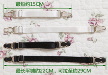 Free shpping New Sexy Harajuku hosiery 100% Handmade Metal Clip Elastic Buckle Nylon belt garters for Stockings Socks(China)