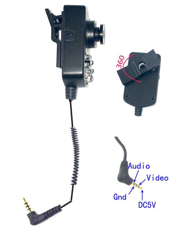 Infrared Night Vision Police Bodyworn CCD Camera 5V For Wearable Camcorder<br>