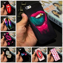 10 Custom Designs Lipstick Kiss Lips Sexy Tongue Print Case for Apple iPhone 7 4 4s 5 5s 5c 6 6s plus Custom Phone Cover