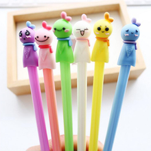 6 pcs/Lot Japanese Cute Sunny Doll Gel Pen for Writing 0.38mm Black Ink Pens Stationery Office School & Supplies canetas escolar(China)