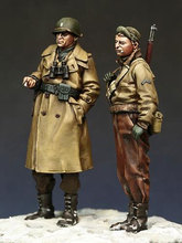 Free Shipping 1/35 Scale Unpainted Resin Figure World War II US army soldier 2 figures collection figure