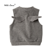 2017 Autumn Winter Sweaters Boys Clothes with Willa's Dance Brand Knit Sleeveless Vest Fashion Wing Kids Pullover Clothes