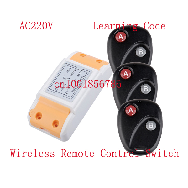 10A RF wireless remote control Radio Controllers #1 Receiver&amp;3 Transmitter 220V Learning code output way adjustable<br><br>Aliexpress