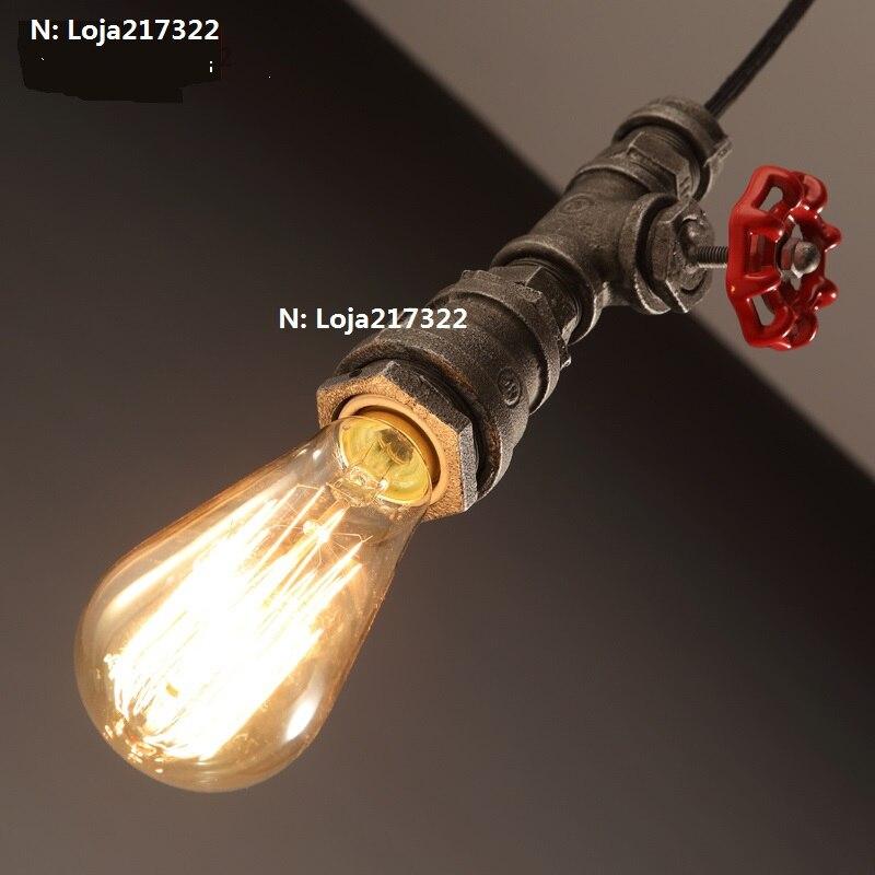Loft Retro Industrial Iron Pipe Vintage  Pendant Lamp Fixture<br>