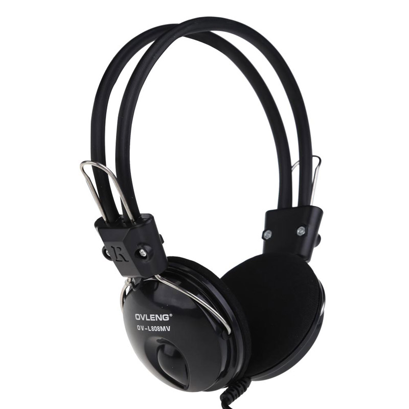 NI5L OVLENG OV-L808MV Over-Ear Earphone Headset Headphone with Mic for Computer<br><br>Aliexpress