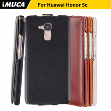 For Huawei Honor 5c Case iMUCA Vintage PU Leather Case Coque Flip Cover For Huawei Honor 5C Honor 7 Lite Phone Cases Bags 5.2""