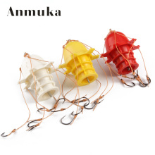 Anmuka 3pcs Hot Sale Carbon Steel Fishhooks Sea Monster with Six Strong Eagle King Explosion Hook Fishing Tackle Tools