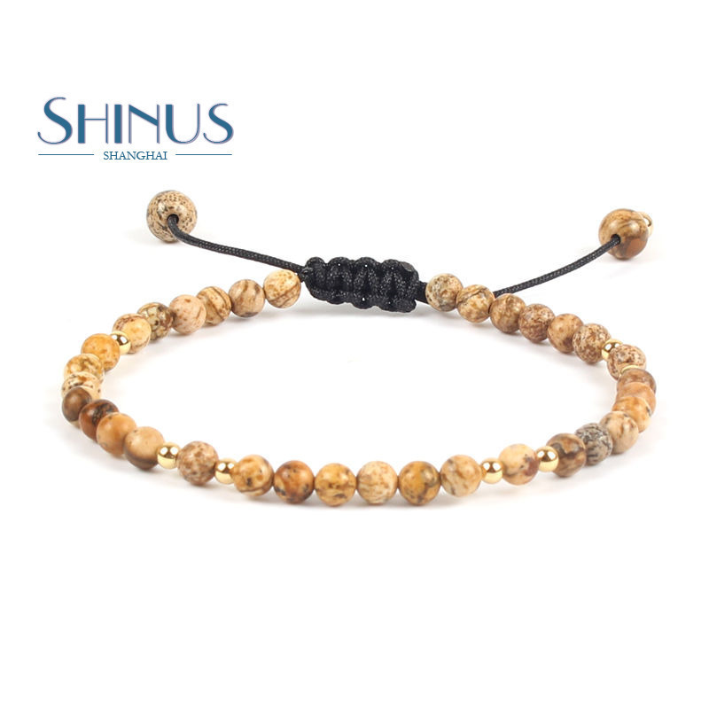 Shinus Bracelets Women Friendship Bracelet Men Handmade Natural Stone Beads Braided Boho Bijoux Femme Fashion Jewelry Yoga Gifts(China)