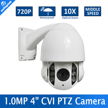 CVR Camera 1.0 Megapixel 720P Waterproof HDCVI IR 60M CVI PTZ Speed Dome Camera 10X Optical Zoom,Vandal-proof