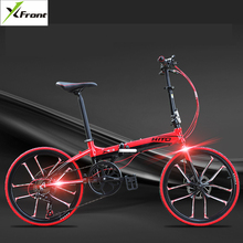 New Brand aluminum alloy 20/22 inch frame 6 speed folding bike outdoor BMX Disc brake bicicletas lady children bicycle(China)