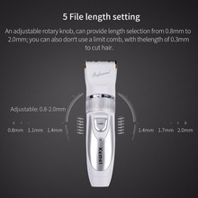 1 Battery Kemei Professional Hair Clipper Electric Rechargeable Hair Trimmer Hair Cutting Machine with 4 Attachment Combs S5051(China)
