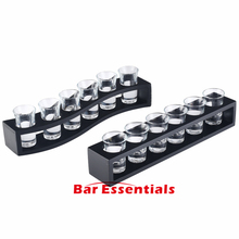 Lead Free Glass 6 PCS Bullets Cup Shot Thick Bottom Swallow A Cup Suit Bar Drinking Utensils Suit With Wine Glasses Frame(China)