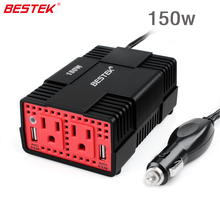 BESTEK 150W Auto Power Inverter	DC to AC Inverters 12V to 110V 4.8A Dual Smart USB Charging Outlet Portable Converter Adapter