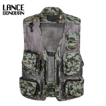 Camouflage Army Military Tactical Photography Multi-pockets Vest