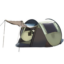 Best Deal Waterproof Single Fast Opening Automatic Tent 1-2 People Account Beach Outdoor Support Tent For Camping(China)