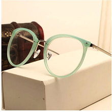 Vintage Decoration Optical Eyeglasses Frame myopia round metal women spectacles eye glasses oculos de grau eyewear(China)