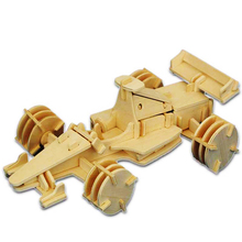 Kids Toy Of 3D Wooden Puzzle For Children And Adult The Formula One A Best Montessori Educationaly Diy Toy As A Gift For Family(China)