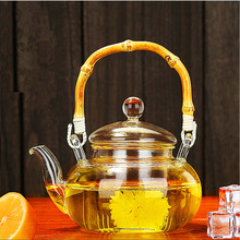 Hot Drinkware 600ML Tea Set Borosilicate Glass Convenient Heated Teapot Transparent Office Flower Tea Pot