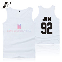 LUCKYFRIDAYF BTS Tank Top Bangtan Boys New Design Funny Print High Quality Cotton Soft Vest Summer Sleeveless T-shirt 4XL Unisex(China)