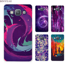 BINYEAE Dust In Purple Light Artistic Clear Transparent Cell Phone Case Cover for Samsung Galaxy A3 A5 A7 A8 A9 2016 2017