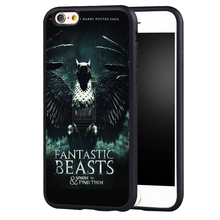 Fantastic Beasts and Where to Find Them Printed Soft Rubber Mobile Phone Cases For iPhone 6 6S Plus 7 7 Plus 5 5S 5C SE 4S Cover